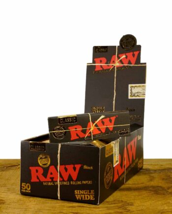 RAW Black Single Wide Papers 50er Packung